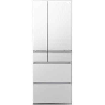 パナソニック 550L 「はやうま冷凍」新搭載 冷蔵庫 フロスティロイヤルホワイト(フロスト加工) NR-F555WPX-W