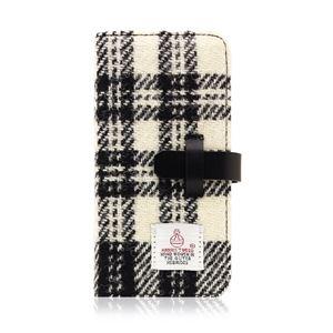 その他 SLG Design iPhone 8/7 Harris Tweed Diary ホワイト×ブラック ds-2199397