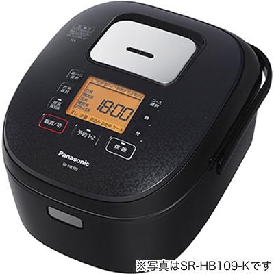 パナソニック IHジャー炊飯器 ダイヤモンド銅釜 1升炊き ブラック SR-HB189-K【納期目安:09/01発売予定】