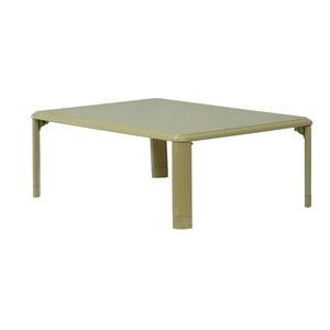 その他 継脚 折りたたみテーブル/ローテーブル 【約幅105×奥行75cm オーク】 高さ2段階調節可 軽量 硬質 【完成品】【代引不可】 ds-2202232