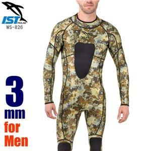 その他 メンズ ウェットスーツ/ジャンプスーツ 【迷彩 カモフラージュ柄 XL】 3mm 耐摩擦 『ISTPROLINE WS-826 10/BY サンドカモ』 ds-2201614