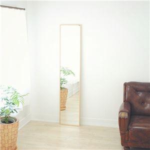 その他 スリムミラー/全身姿見鏡 【ナチュラル】 壁掛け 幅32×高さ153cm 天然木フレーム シンプル 日本製 〔玄関 廊下 居間 寝室〕【代引不可】 ds-2202541
