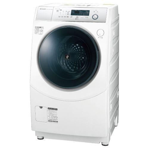 シャープ ドラム式洗濯乾燥機 ホワイト系・左開き ES-H10D-WL【納期目安:3週間】