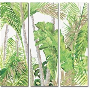 その他 ウッドスカルプチャーアート(3枚セット)「パーム&バナナ」 ds-2198539