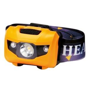 その他 マルチ ヘッドライト/照明器具 【イエロー 100個セット】 ライト:4パターン切替可 〔防災 アウトドア 暗所作業〕 ds-2201787