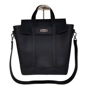 その他 くったり柔らか素材♪スタイリッシュな薄型ビジネスハンドバッグ/ブラック ds-2213468
