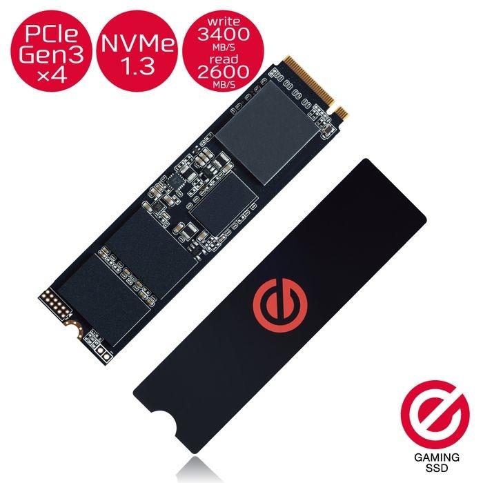 エレコム 2.5インチ ゲーミング内蔵SSD/PCIe3.0/1TB ESD-GMIA1024G