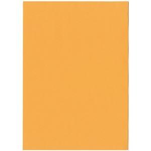 その他 (まとめ)北越コーポレーション 紀州の色上質A4T目 薄口 オレンジ 1箱(4000枚:500枚×8冊)【×3セット】 ds-2214575