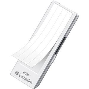 その他 (まとめ)バーベイタム USBメモリーフリーデザインタイプ 4GB ホワイト インデックスラベル付 業務用パック USBF4GVW1C1パック(10個)【×3セット】 ds-2214913