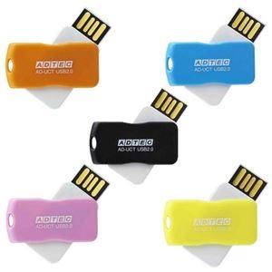 その他 (まとめ)アドテック USB2.0回転式フラッシュメモリ 8GB 5色 AD-UCTF8G-U2R 1パック(5個:各色1個)【×3セット】 ds-2214936