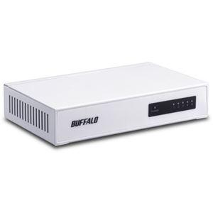 その他 (まとめ)バッファロー 10/100M対応スイッチングハブ 金属筐体 電源内蔵 5ポート ホワイト LSW4-TX-5NS/WHD 1セット(3台)【×3セット】 ds-2216663