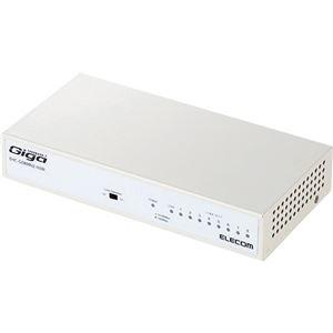 その他 (まとめ)エレコム 1000BASE-T対応スイッチングハブ 8ポート メタル筐体 ホワイト EHC-G08MN2-HJW 1台【×3セット】 ds-2216668