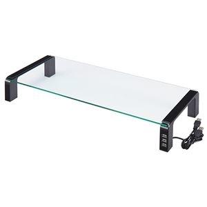 その他 (まとめ)キングジム デスクボード USBハブ付W550×D230×H80mm 天板:透明無色 脚:ブラック THDBU-20K 1台【×3セット】 ds-2216719