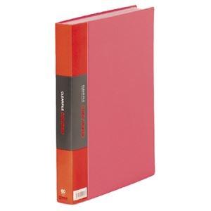 その他 (まとめ)キングジム カラーベーストリプルA4タテ 60ポケット 背幅35mm 赤 132-3C 1セット(5冊)【×3セット】 ds-2216940