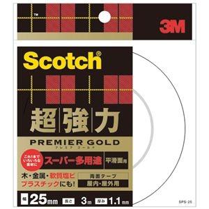 その他 (まとめ)スコッチ 超強力両面テープ プレミアゴールド (スーパー多用途)25mm×3m 10巻【×3セット】 ds-2217724