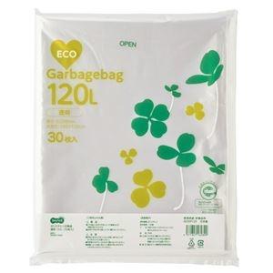その他 (まとめ)TANOSEE ポリエチレン収集袋 透明 120L 30枚入×6パック【×3セット】 ds-2218262
