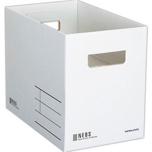その他 (まとめ)コクヨ 収納ボックス(NEOS)Mサイズ ホワイト A4-NEMB-W 1セット(10個)【×3セット】 ds-2218300