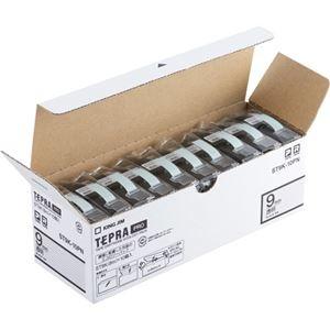 その他 (まとめ)キングジム テプラ PROテープカートリッジ 9mm 透明/黒文字 エコパック ST9K-10PN 1パック(10個)【×3セット】 ds-2218508