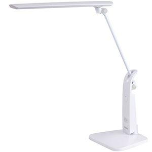 その他 (まとめ)スワン電器 LEDデスクライトスタンド式 14W 1350Lx ホワイト DS-501WH 1台【×3セット】 ds-2218983