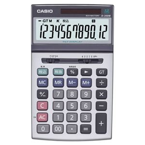 その他 (まとめ)カシオ CASIO 本格実務電卓 12桁 ジャストサイズ JS-200W-N 1台【×3セット】 ds-2219142