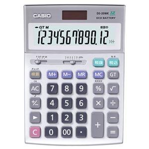 その他 (まとめ)カシオ CASIO 本格実務電卓 12桁 デスクタイプ DS-20WK 1台【×3セット】 ds-2219154