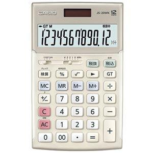 その他 (まとめ)カシオ 本格実務電卓 12桁ジャストタイプ ゴールド JS-20WK-GD 1台【×3セット】 ds-2219158