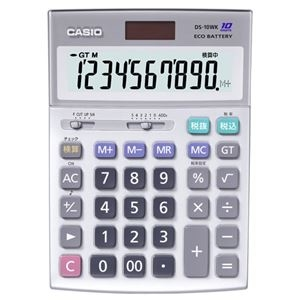 その他 (まとめ)カシオ CASIO 本格実務電卓 10桁 デスクタイプ DS-10WK 1台【×3セット】 ds-2219160