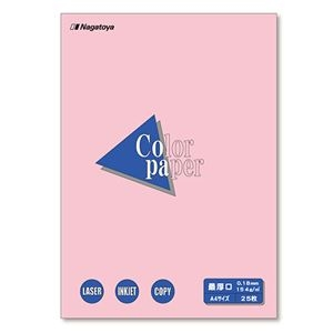 その他 (まとめ) 長門屋商店 Color Paper A4最厚口 桃 ナ-3521 1冊(25枚) 【×30セット】 ds-2238104