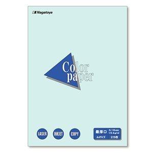 その他 (まとめ) 長門屋商店 Color Paper A4最厚口 水 ナ-3510 1冊(25枚) 【×30セット】 ds-2238106
