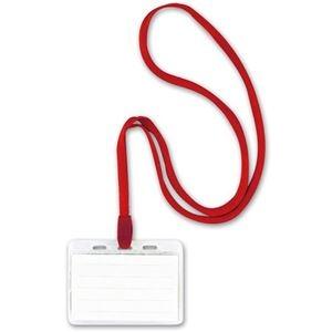 【送料無料】 その他 (まとめ) ソニック 吊り下げ名札 スタンダードタイプ ソフト 赤 NF-448-R 1箱(10個) 【×10セット】 ds-2234535