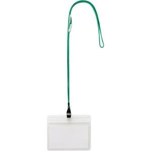 その他 (まとめ) TANOSEE 吊下げ名札防水チャック付 大 緑 1パック(10個) 【×10セット】 ds-2234583