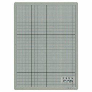 その他 (まとめ) ライオン事務器 カッティングマット 再生PVC製 両面使用 300×220×3mm 灰/黒 CM-3012 1枚 【×10セット】 ds-2234918