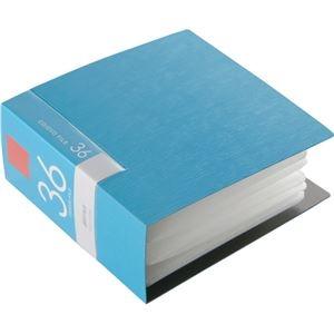 その他 (まとめ) バッファローCD&DVDファイルケース ブックタイプ 36枚収納 ブルー BSCD01F36BL 1個 【×30セット】 ds-2235336