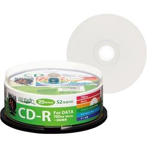 その他 (まとめ) ハイディスク データ用CD-R700MB 52倍速 ホワイトワイドプリンタブル スピンドルケ―ス HDCR80GP20 1パック(20枚) 【×30セット】 ds-2235476