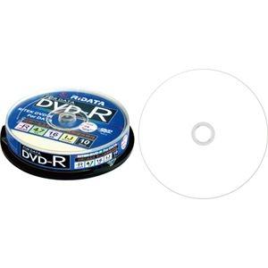 その他 (まとめ) RiDATA データ用DVD-R4.7GB 1-16倍速 ホワイトワイドプリンタブル スピンドルケース D-R16X47G.PW10SP B1パック(10枚) 【×30セット】 ds-2235477