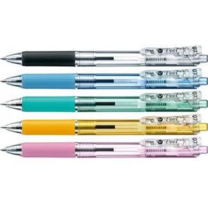 その他 (まとめ) ぺんてる 油性ボールペン ビクーニャフィール 0.7mm 黒 カラー軸 アソート(5色各1本) BXB117-5 1パック 【×30セット】 ds-2236193