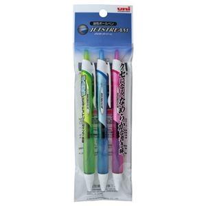 その他 (まとめ) 三菱鉛筆 油性ボールペン ジェットストリーム 0.7mm 黒 カラー軸 アソート(3色各1本) SXN15007.3C 1パック 【×30セット】 ds-2236267
