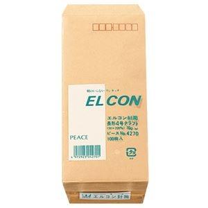 その他 (まとめ) ピース R40再生紙クラフト封筒 テープのり付 長4 70g/m2 〒枠あり 4270 1パック(100枚) 【×30セット】 ds-2236728