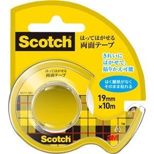 その他 (まとめ) 3M スコッチ はってはがせる両面テープ 19mm×10m ディスペンサー付 667-1-19D 1巻 【×30セット】 ds-2236892