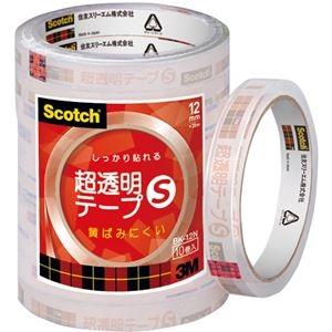 その他 (まとめ) 3M スコッチ 超透明テープS12mm×35m BK-12N 1パック(10巻) 【×30セット】 ds-2236895