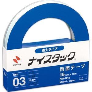 その他 (まとめ) ニチバン ナイスタック 両面テープ 強力タイプ 大巻 15mm×18m NW-K15 1巻 【×30セット】 ds-2236964