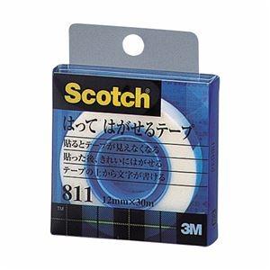 その他 (まとめ) 3M スコッチ はってはがせるテープ 811 小巻 12mm×30m クリアケース入 811-1-12C 1巻 【×30セット】 ds-2236975