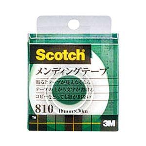 その他 (まとめ) 3M スコッチ メンディングテープ 810 小巻 18mm×30m クリアケース入 810-1-18C 1巻 【×30セット】 ds-2236987