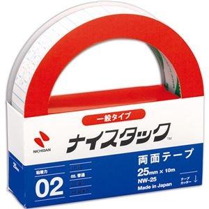 その他 (まとめ) ニチバン ナイスタック 再生紙両面テープ 大巻 25mm×10m NW-25 1巻 【×30セット】 ds-2237028