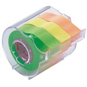 その他 (まとめ) ヤマト メモック ロールテープ カッター付 15mm幅 オレンジ&レモン&ライム RK-15CH-A 1個 【×30セット】 ds-2237088