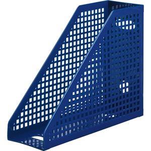 その他 (まとめ) TANOSEE メッシュボックス A4タテ 背幅103mm 青 1個 【×30セット】 ds-2237672