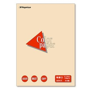 その他 (まとめ) 長門屋商店 Color Paper B5 特厚口 アイボリー ナ-4415 1冊(50枚) 【×30セット】 ds-2237768