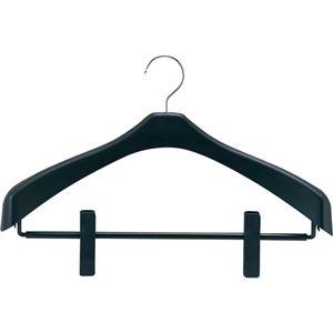 その他 (まとめ) シンコハンガー リバース ジャケットハンガー クリップ付 42cm ブラック RJH-C42 1本 【×30セット】 ds-2237891