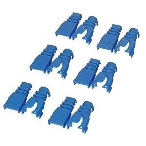 その他 (まとめ) エレコム 後付タイプコネクタ保護カバーブルー LD-ABBU6 1セット(6個) 【×30セット】 ds-2238131