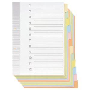 その他 (まとめ) TANOSEE 見出しカード A4タテ 2穴 6色12山+扉紙 1パック(5組) 【×30セット】 ds-2238934